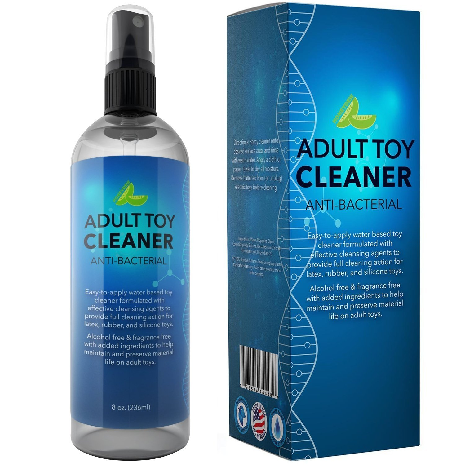 Antibacterial Toy Cleaner Spray Water Based Hypoallergenic Antimicrobial Multi Surface Disinfectant for Toys No Alcohol Sanitizer Cruelty Free Cleanser to Clean and Refresh Personal Care Products