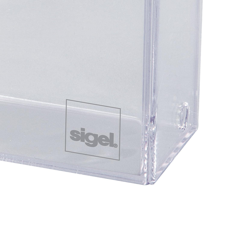 Sigel Va110 Visitenkarten Box 20er Pack Für 100 Karten Im Scheckkartenformat 86x56mm