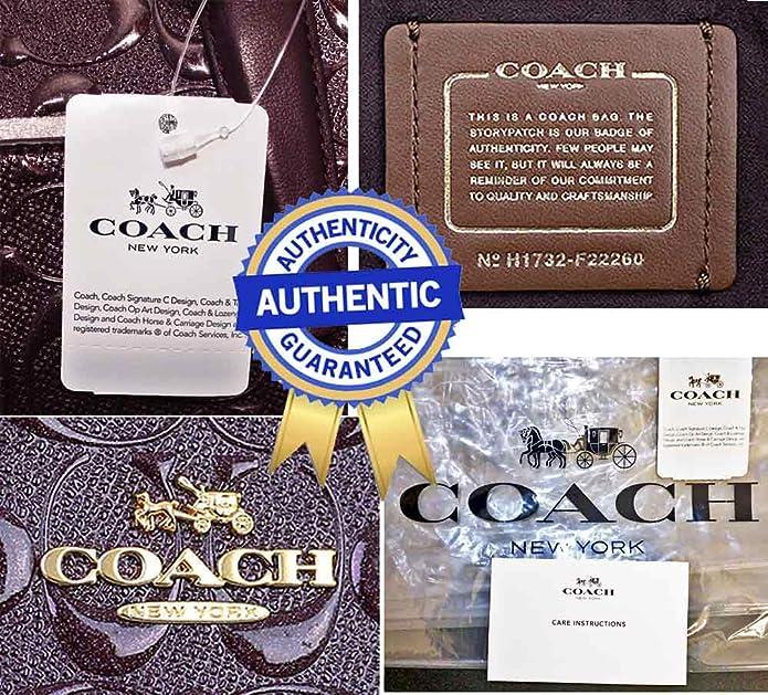 2d32bbae4ae9 Amazon.com  SALE! New Authentic COACH Patent Leather ELEGANT Merlot ...