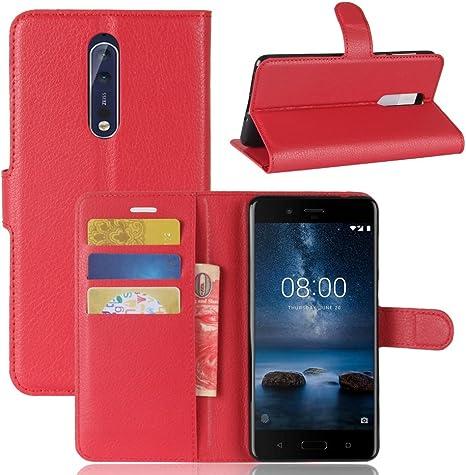 maxku Nokia 8 móvil, Premium Cuero PU Carpeta Buzón para Nokia 8 ...