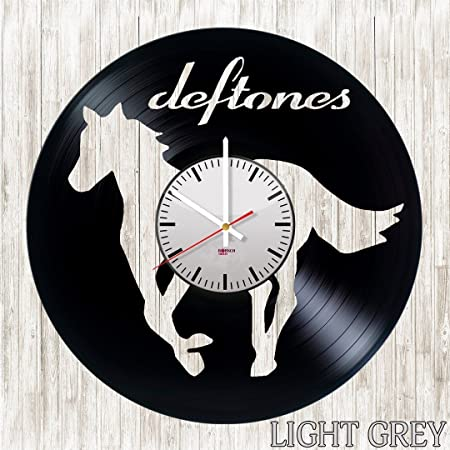 Deftones Handmade Vinyl Record Wall Clock – Get unique living room wall decor – Gift ideas for boys and girls, teens Rock Music Unique Modern Art Design