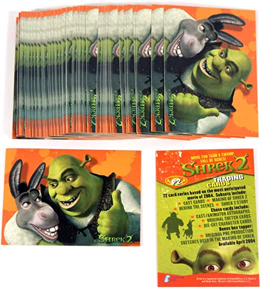 Lot Of 50 2004 Cards Inc Shrek 2 Promo Card P2 Nm Mt At Amazon S Entertainment Collectibles Store