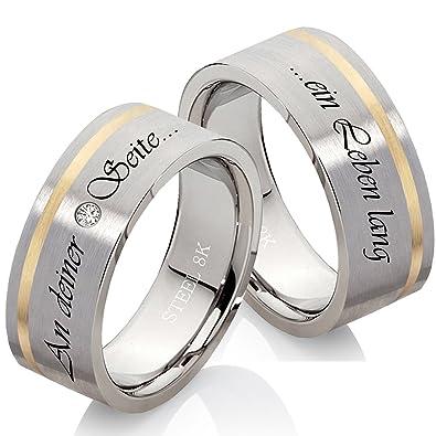 Eheringe Verlobungsringe Trauringe Aus Edelstahl Und 333 Gold Mit