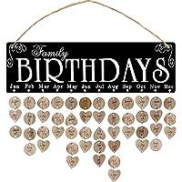 Garneck Houten Familie Verjaardagskalender Muur Opknoping Verjaardag Herinnering Board Plaque Diy Verjaardag Tracker…