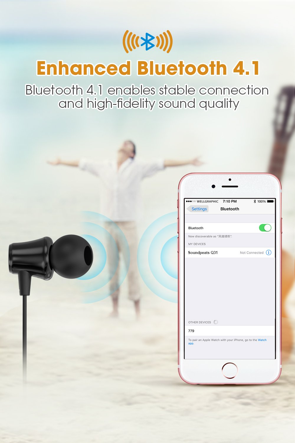SoundPEATS-Bluetooth-Headphones-Wireless-Earbuds-41-Magnetic-Bluetooth-Earphones-Lightweight-Earbuds-with-Mic-for-in-Ear-Earphones-Sports8-Hours-Play-Time-Noise-Cancelling-Sweatproof