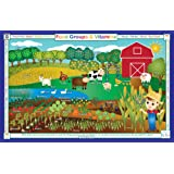 Tot Talk Food Groups & Vitamins Educational Placemat for Kids