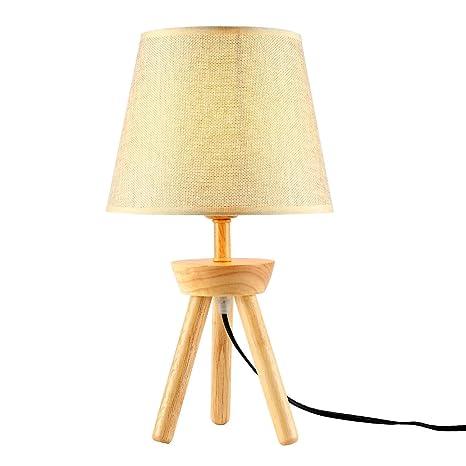 Amazon.com: Lámpara de mesa minimalista con base de trípode ...