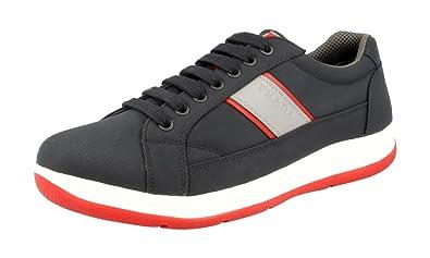 4E2987 OQ6 F0HGF, Herren Sneaker, Bleu Scarlatto - Größe: 42 EU Prada