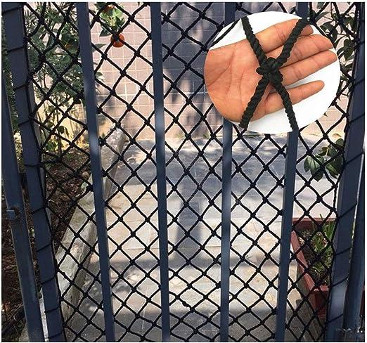 Red de cuerda negra, red de seguridad for niños, protección de escalera, red de aislamiento, red