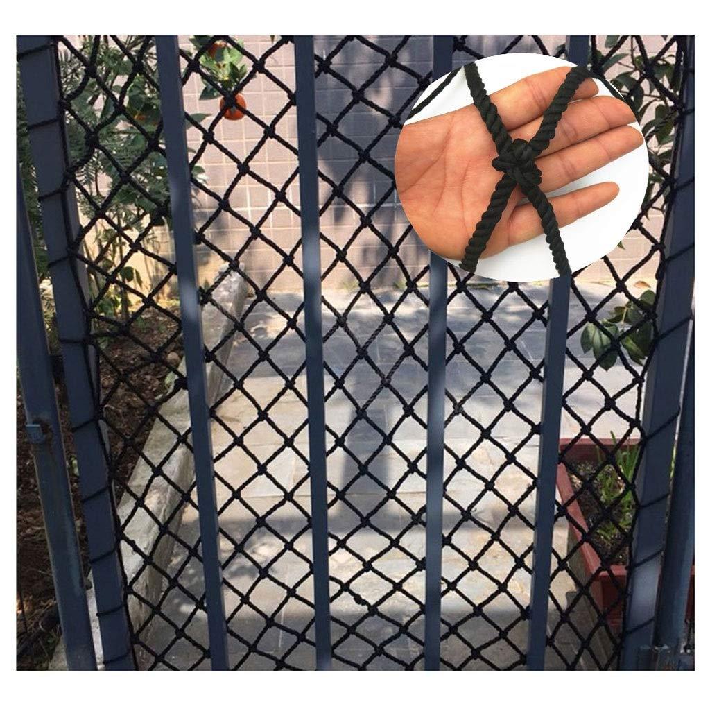 18m(326ft) Filet De Sécurité Noir Corde Net, Escalier De Prougeection Pour Animaux De Compagnie Filet Enfants Prougeection Contre Les Chutes Grille Filet Camion voiturego Net Balcon Obstacle Net Décoration De Jardin Net