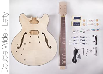 DIY Kit de guitarra eléctrica? 335 estilo Lefty construir su propio Kit de guitarra: Amazon.es: Instrumentos musicales