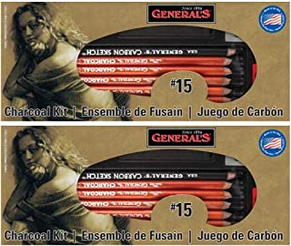 product image for 2-Pack - General Pencil #15 Charcoal Kit, 12-Pieces per Set