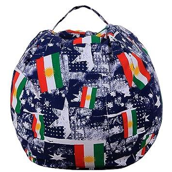 amazon com ehonestbuy bean bag chair cover child toy storage bags