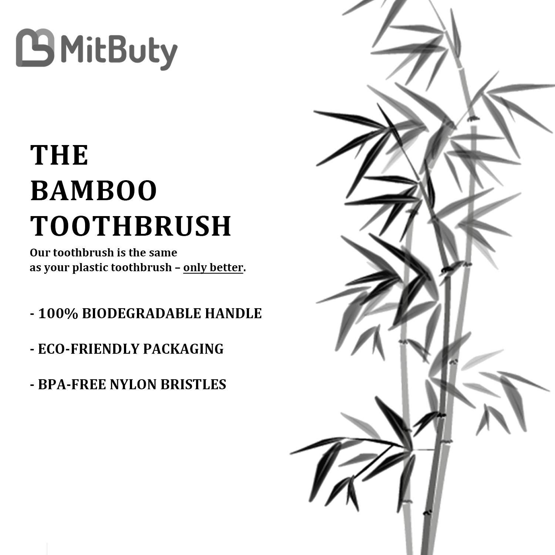 Amazon.com: Cepillo de dientes de bambú, suave y suave, 8 ...