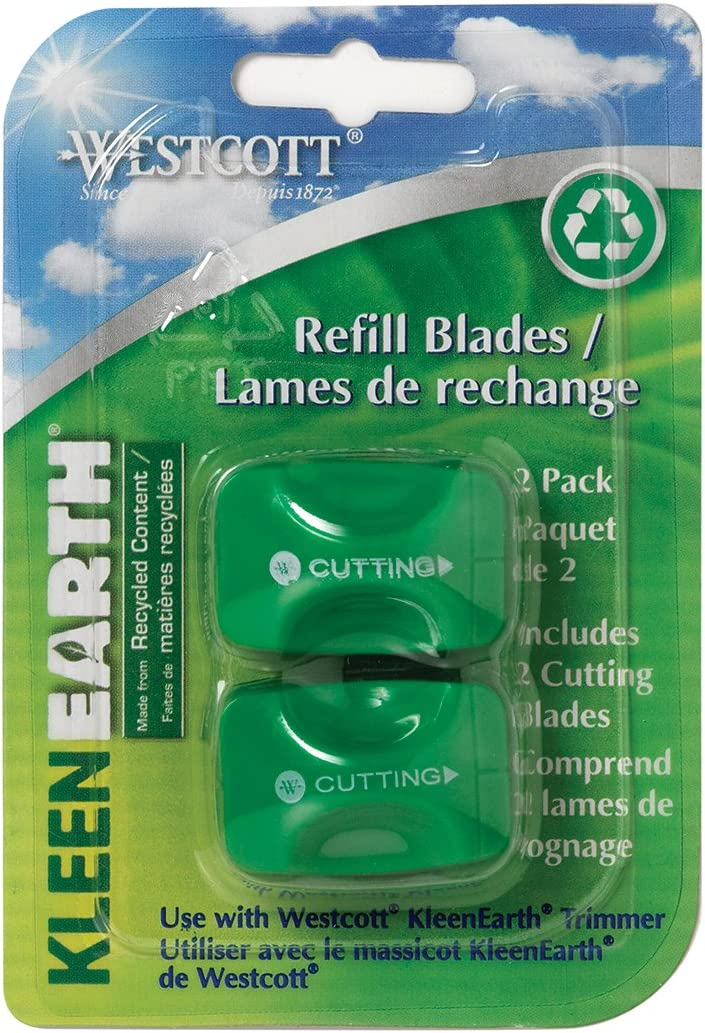 Westcott KleenEarth Recycled Paper Trimmer Replacement Blades Pack of 2