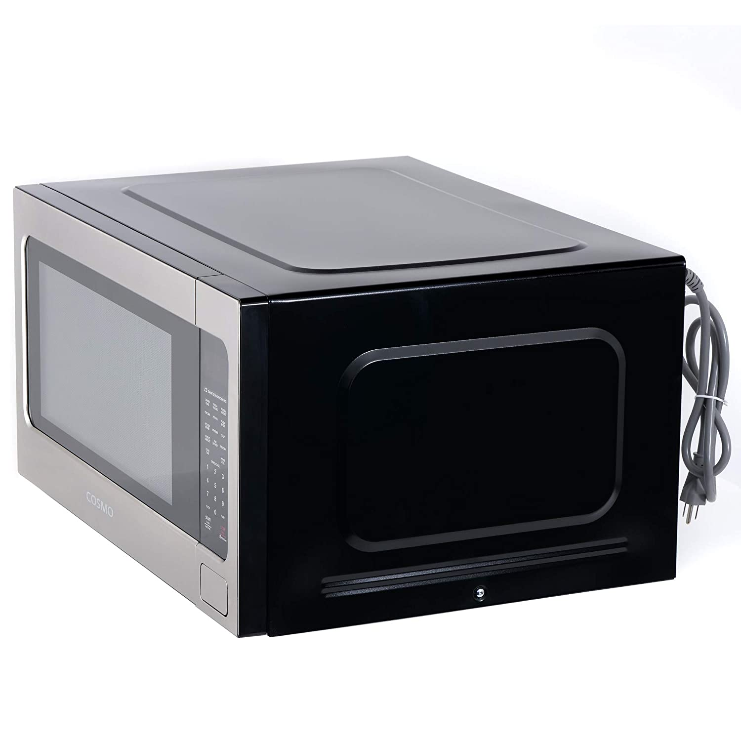 1200W /& 2.2 cu Stainless Steel 24 inch Touch Presets Cosmo COS-BIM22SSB Countertop//Built-in Microwave Oven with Smart Sensor ft Capacity