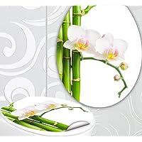 StickerProfis 'Asiento de Inodoro Pegatinas Weisse Orquídea Diseño