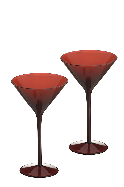 Artland Midnight Martini Glass, Set of 2, Red ART13644PK2