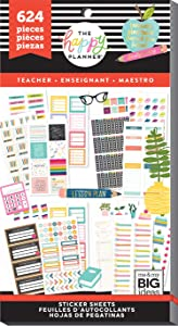 The Happy Planner - Value Pack Stickers - Big - Teacher Functional, Multi