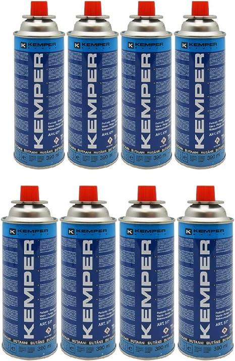 Kemper 8 cartuchos de gas butano de 227 g para hornillo Smart 577