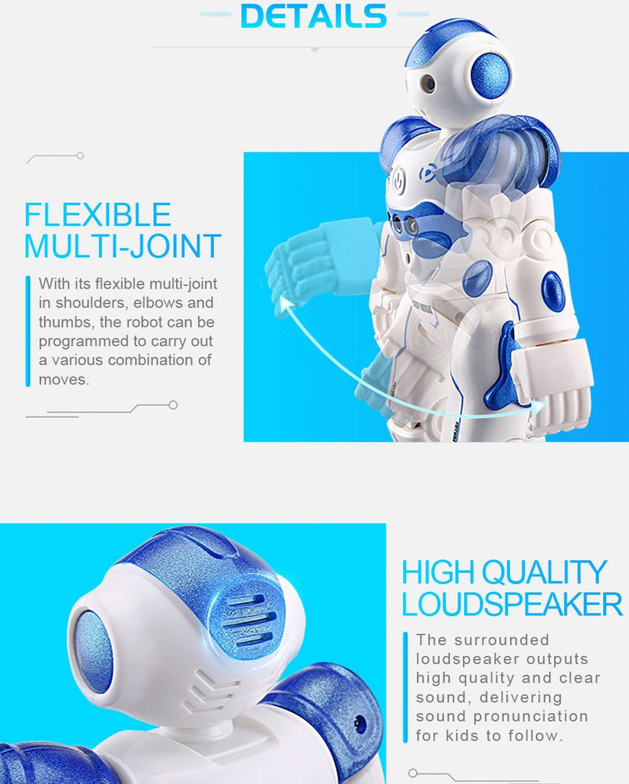 BTG R2 Cady-Wida Cady-WINI Intelligent Gesture Sensor Control RC Robot for Entertainment - Walks in All Direction, Slides, Turns Around, Dances - Toy for Boys/Girls RED by BTG (Image #5)
