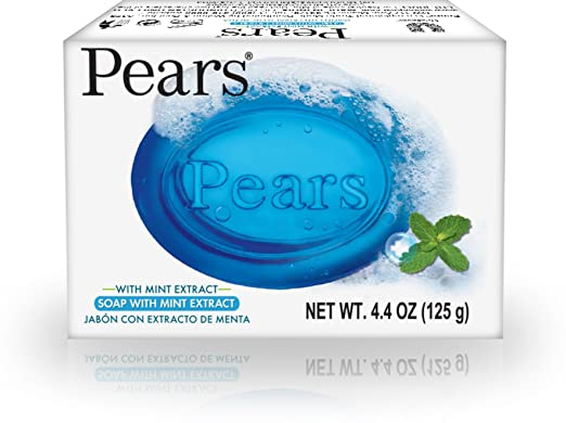 Pears Soap with Mint Extract 4.4 oz (12 Pack)