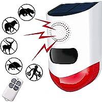 Solar Strobe Light SOS Alert System Emergency Safety Alarm with Remote Controller Motion Sensor Detector Solar Alarm…