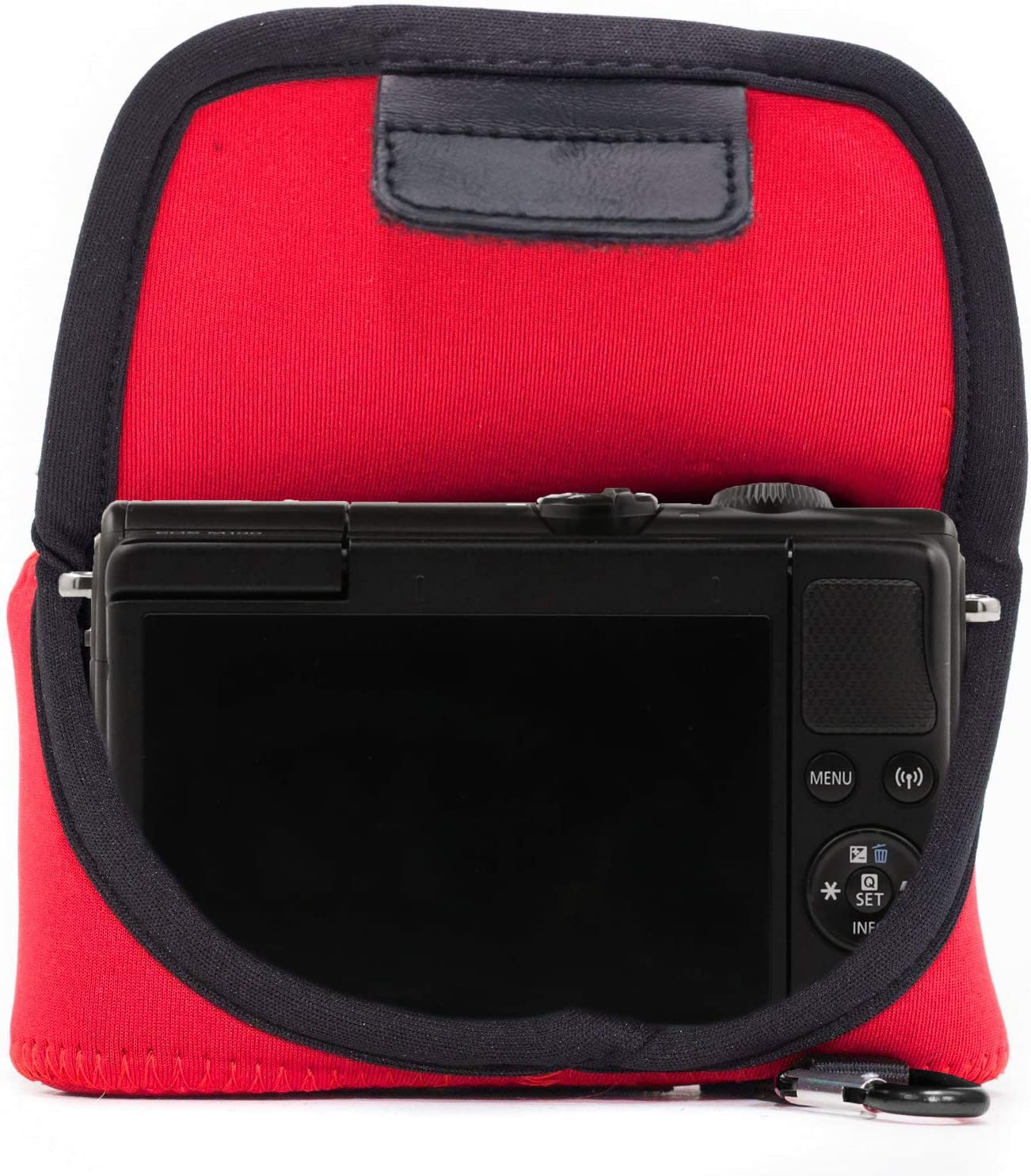 15-45mm Ultra Light Neoprene Camera Case with Carabiner M200 MG1322 Red MegaGear Canon EOS M100