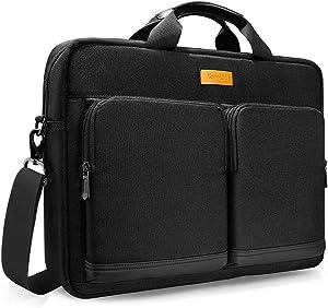 tomtoc Laptop Shoulder Bag, 15.6 Inch Laptop Briefcase Messenger Bag Case Sleeve Fits Up to 15 Inch MacBook 15.6 Inch Asus Acer Dell Lenovo HP Laptop