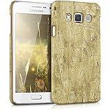 kwmobile Étui rigide Design bois vintage pour Samsung Galaxy A3 (2015) en marron clair