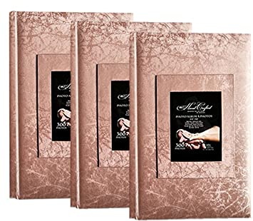 Kvd Kleer Vu Deluxe Albums Wedding Album Collection Holds 300 4x6 Photos 3 Per Page Jacquard Textured Window Frame Cover Copper 3pk
