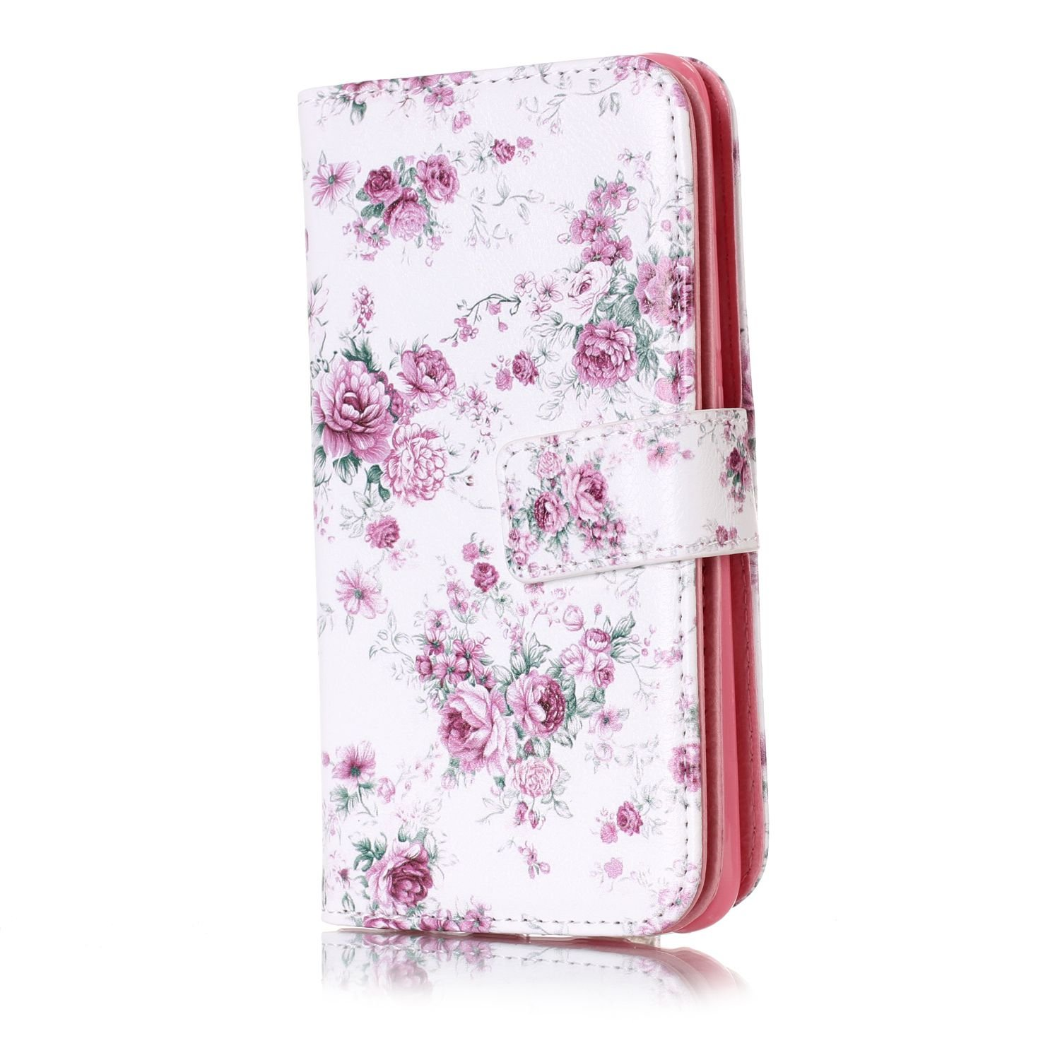 JuSha for Apply to Huawei 5C Edge Case PU Leather Wallet Magnetic Cover Skin(Dandelion mobile phone case)