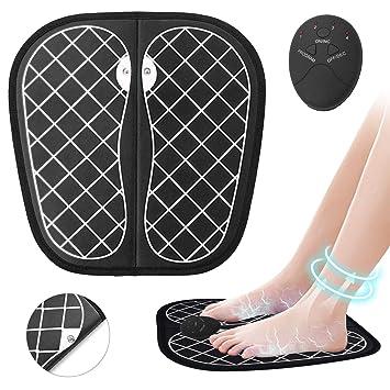 Masajeadores eléctricos para pies - Pulsos de Baja Frecuencia Estimulación Muscular Eléctrica, Cojín de Masaje de Pies Fisioterapia Inteligente para ...