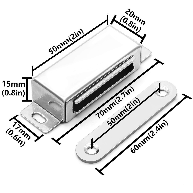 Schlie/ßer T/üren 3 St/ück Magnetischer T/ürriegel f/ür Schrank 20 kg Schr/änke Schrank 72 mm