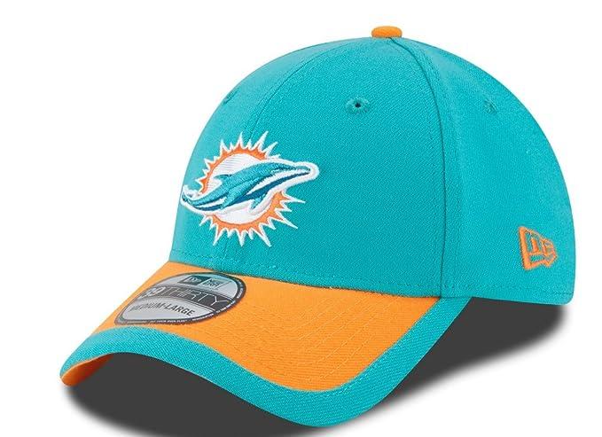 1dbd2c69db1 New Era Men s Miami Dolphins 39Thirty 2015 On Field Hat Green Orange Size  Medium