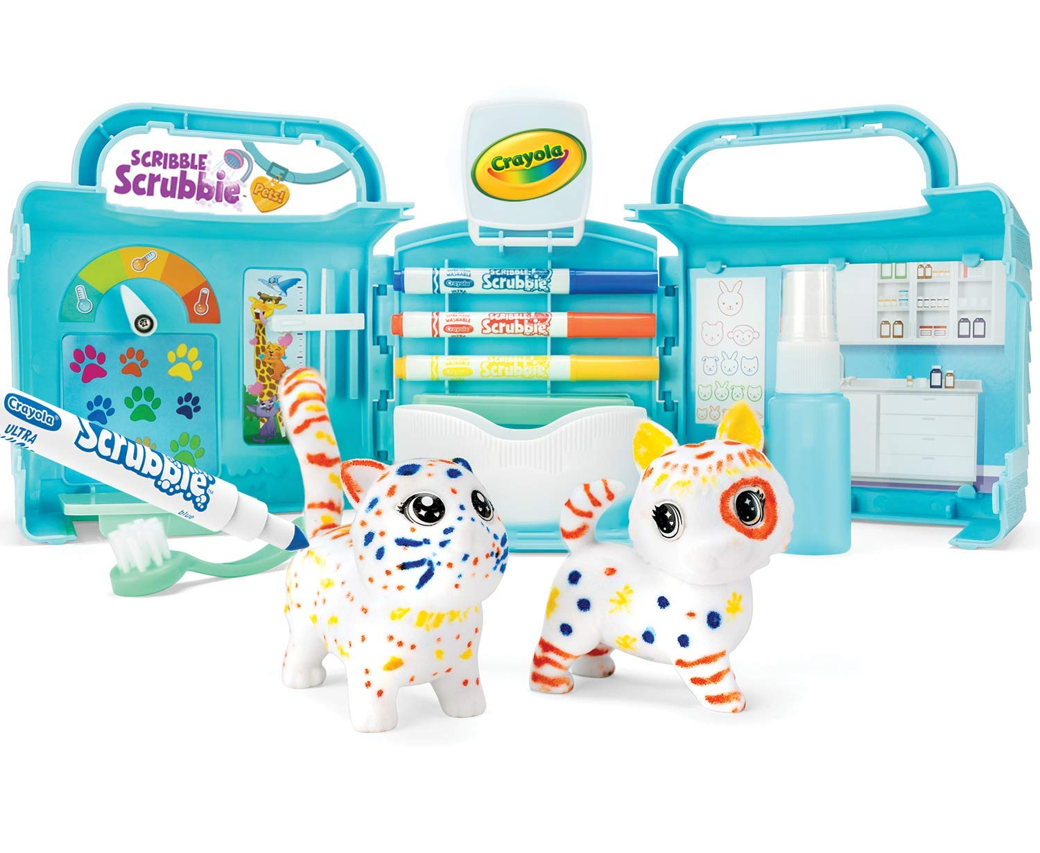 Crayola Scribble Scrubbie Pets, Vet Toy Playset with Toy Pets, Kids at Home Activities, Gift for Kids