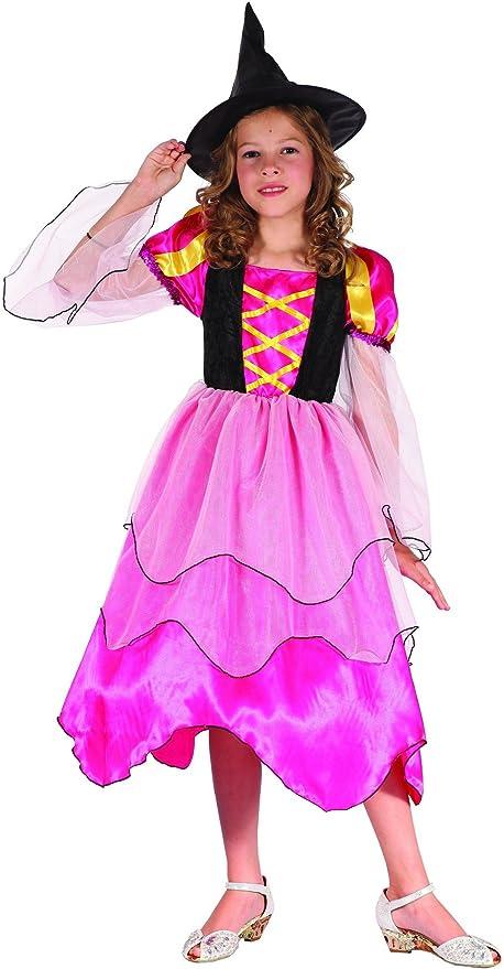 Disfraz bruja rosa niña Halloween - 7 - 9 años: Amazon.es ...