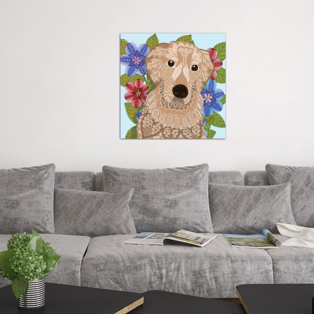 iCanvasART ANG45-1PC3-18x18 iCanvas Golden Retriever Print by Angelika Parker 37 x 37