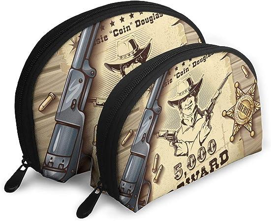 Zimubbic Sheriff Stars - Neceser portátil con diseño de estrellas, bolsa de aseo portátil, bolsa de viaje para cosméticos, bolsa de maquillaje portátil, impermeable, bolsa organizadora para mujeres y niñas: Amazon.es: Hogar