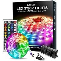 LED Strip Light Kit Waterproof 150 LEDs 5050 SMD RGB 5M 16.4ft Strips Lighting Flexible Color Changing with 44 Keys…