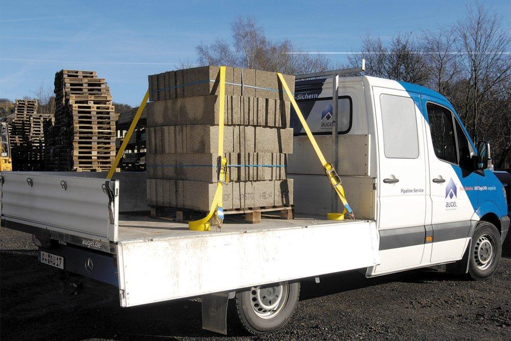 Wolfcraft 3276000 Sangle cliquet 2 crochets 6 m Force de serrage 2000 kg