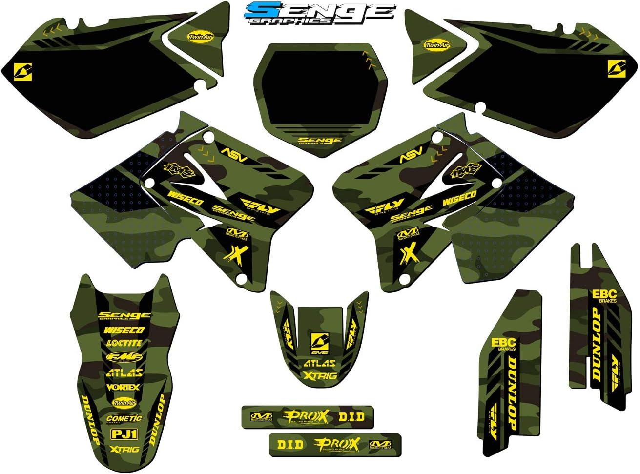 Apache Grey Complete Custom Graphics Kit Senge Graphics Compatible with Suzuki. 2001-2014 RM 125//250
