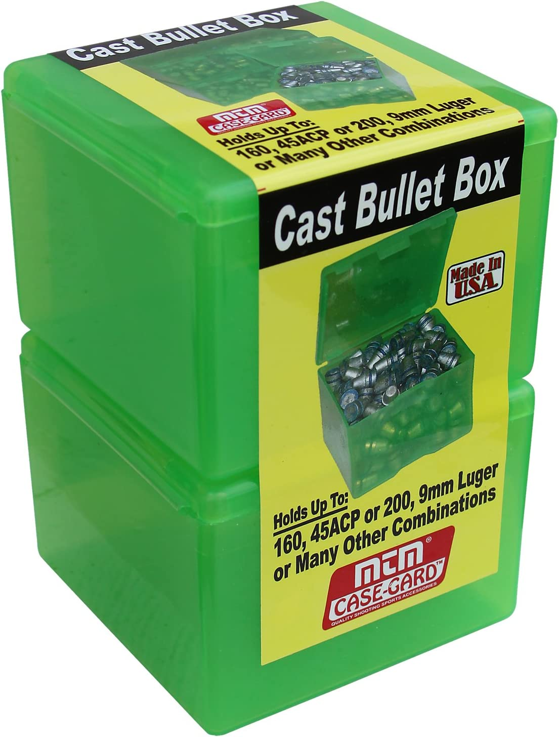 Clear Green MTM Cast Bullet Box Cast Bullet Box Made From See-Thru