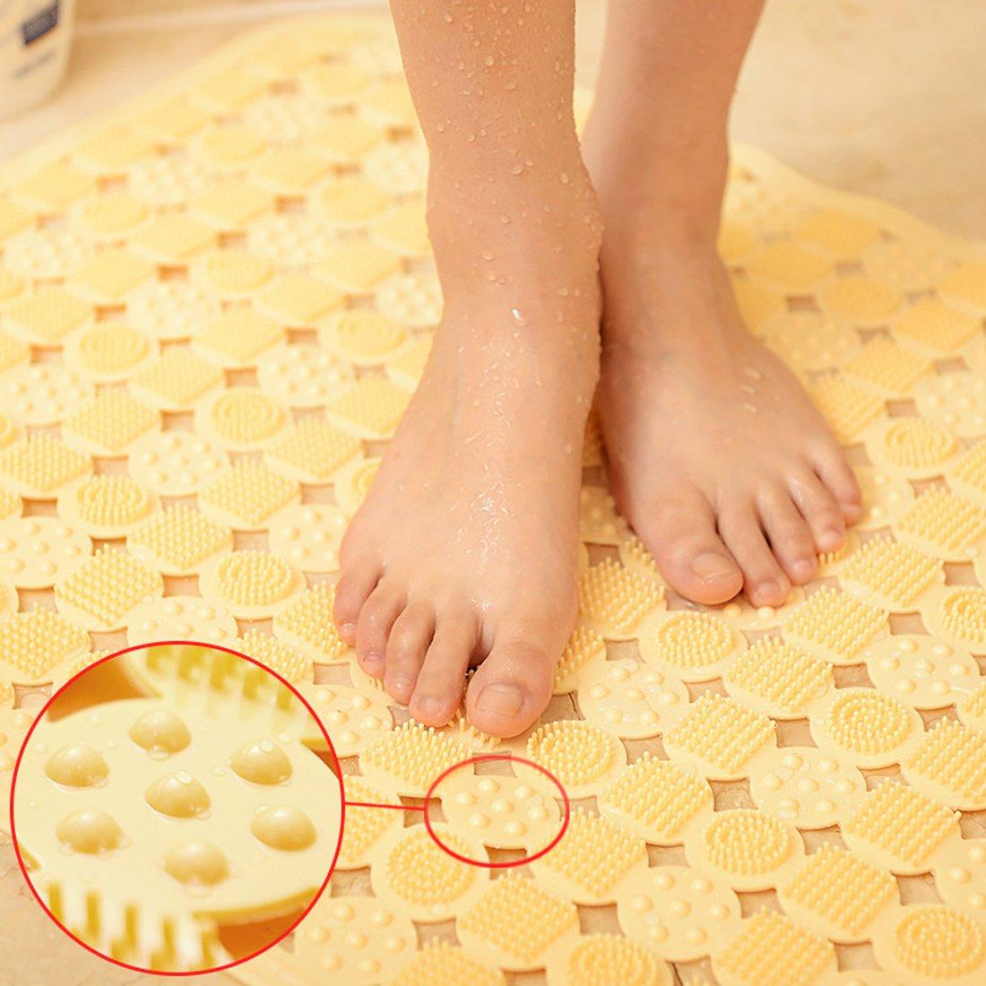 leicht zu reinigen langlebig Bubble Beige PVC Anti-Rutsch-Badewanne Duschmatte Duschmatte Saugnapf-System mit PVC f/ür Wanne und Badezimmer schimmelresistent 36*72 CM rutschfeste Massagematte