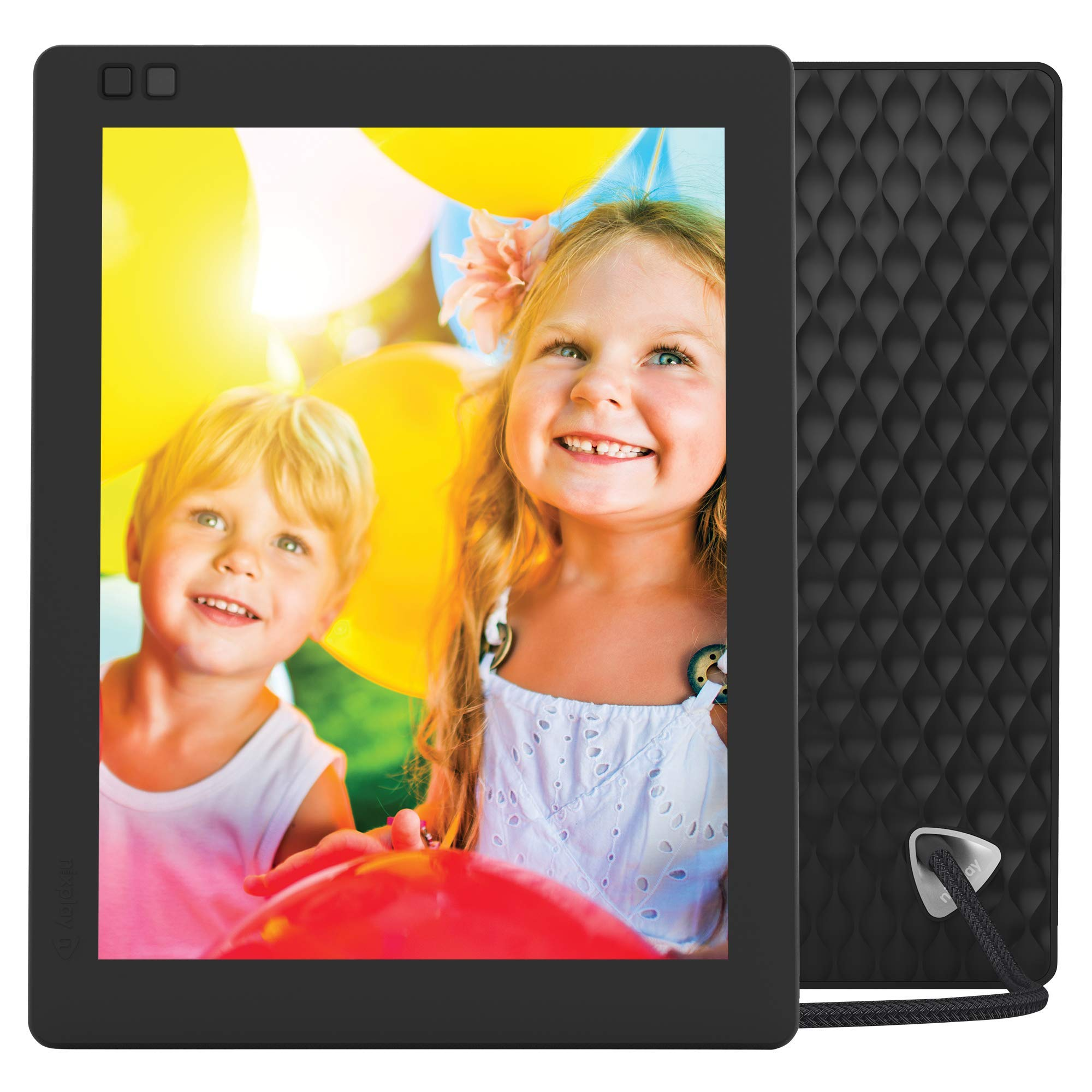 Nixplay Seed Ultra 2K High Definition Wi-Fi 10 Inch Digital Picture Frame, with E-Mail, iPhone & Android App, Free 10GB Online Storage, Google Photos, Facebook, Motion Sensor