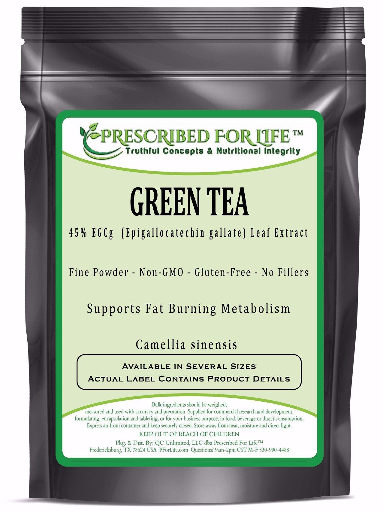 Green Tea - 45% EGCg (Epigallocatechin gallate) Natural Leaf Extract Powder (Camellia sinensis), 55 lb