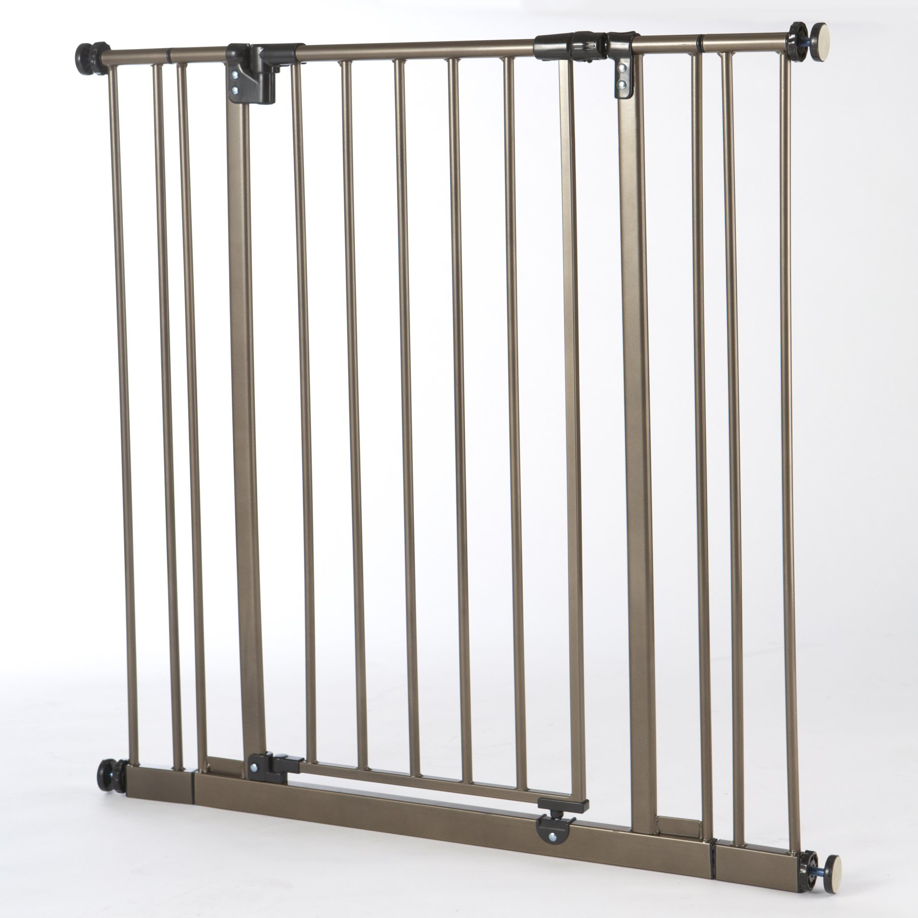 ''Extra-Tall Easy-Close Gate'' by North States: The multidirectional swing gate with triple locking system - Ideal for taller entries. Pressure mount. Fits openings 28'' to 38.5'' wide (36'' tall, Bronze) by North States (Image #1)