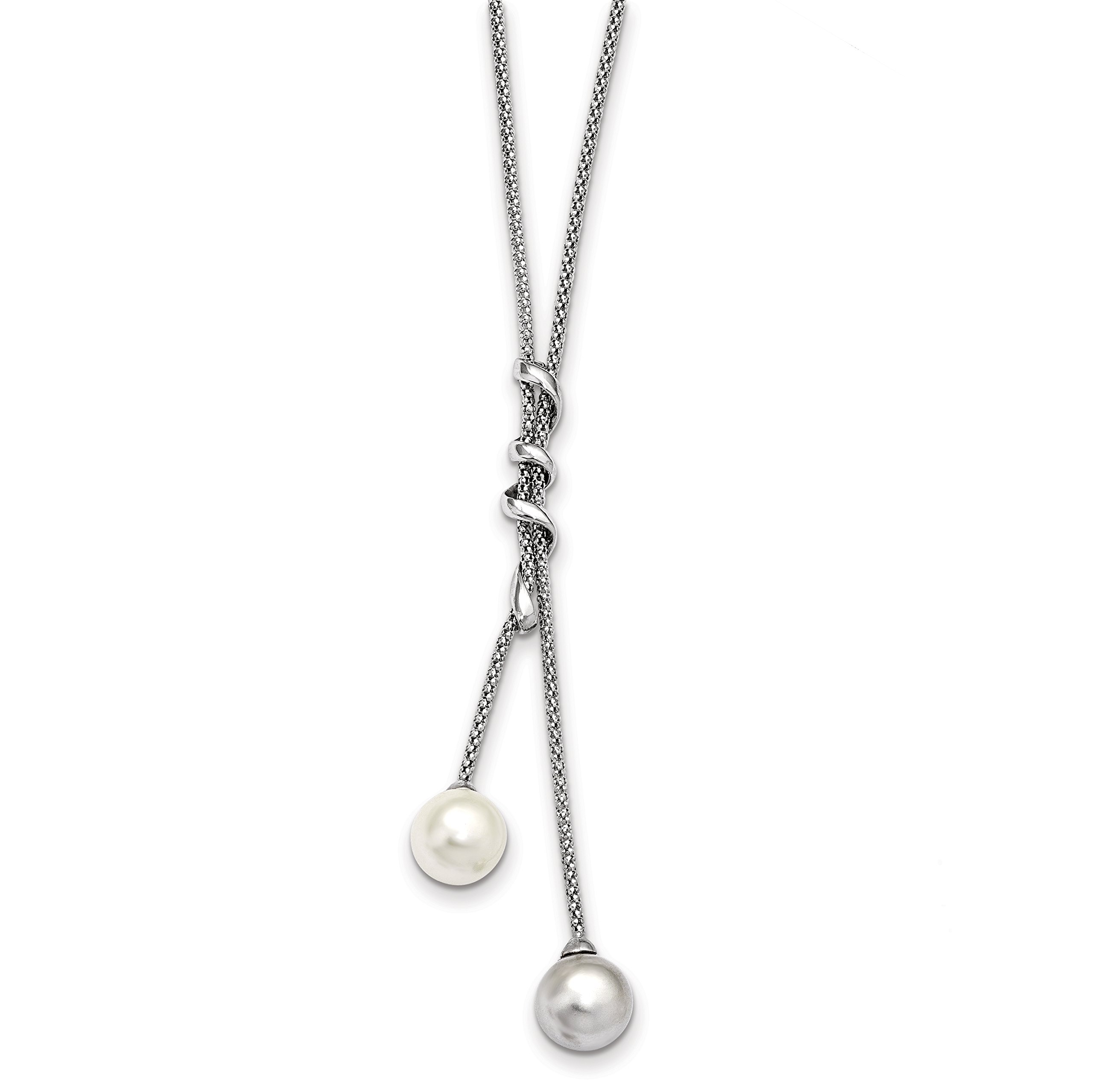 ICE CARATS 925 Sterling Silver Majestick 11mm White Grey Sea Shell Mermaid Nautical Jewelry Pearl Chain Necklace Majestik Fine Jewelry Gift Set For Women Heart by ICE CARATS (Image #1)