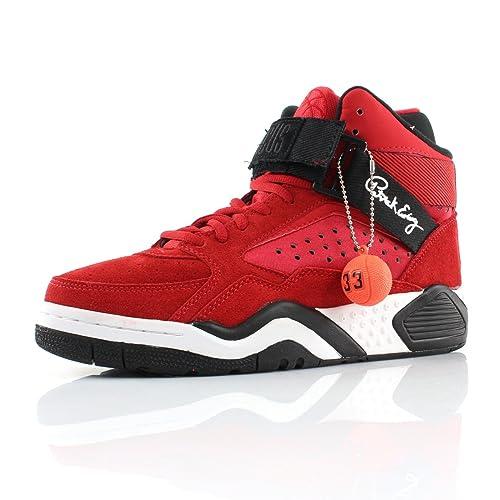 Patrick Ewing 90092 - Zapatillas de deporte de cuero para hombre Rojo rojo 42: Amazon.es: Zapatos y complementos