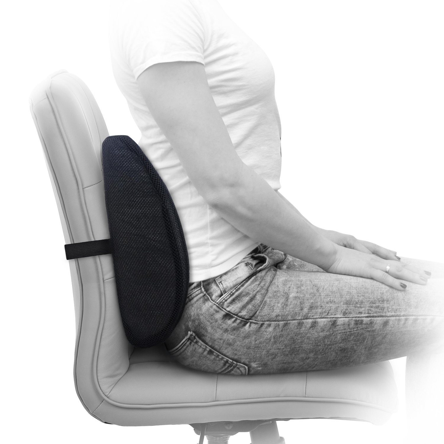 amazon com milliard lumbar support pillow memory foam chair